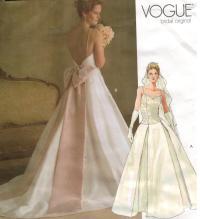 Vogue Pattern 2849 Wedding Bridal Gowns Sizes 6 8 10