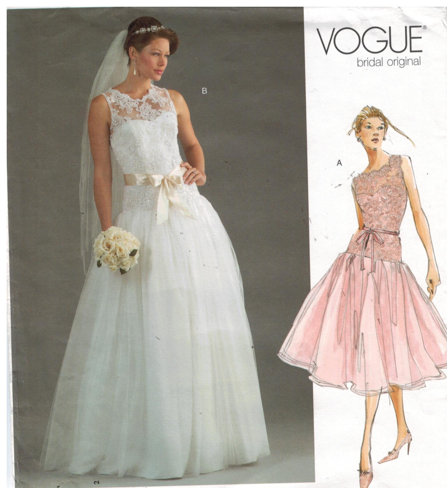 Vogue Pattern 2892 Bridal Original Wedding and Bridesmaid