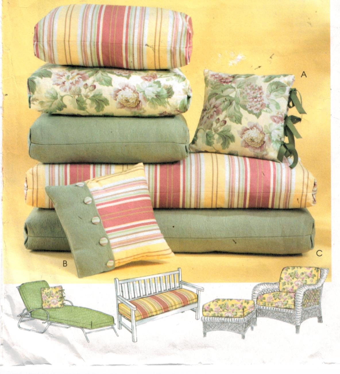 sewing patterns for patio chair cushions cowboys football helmet mccalls pattern 4124 summertime and pillows