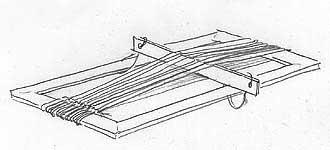 Types of weaving/ types of loom 3 : yarn heddles, cards