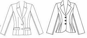 Notch collar jackets