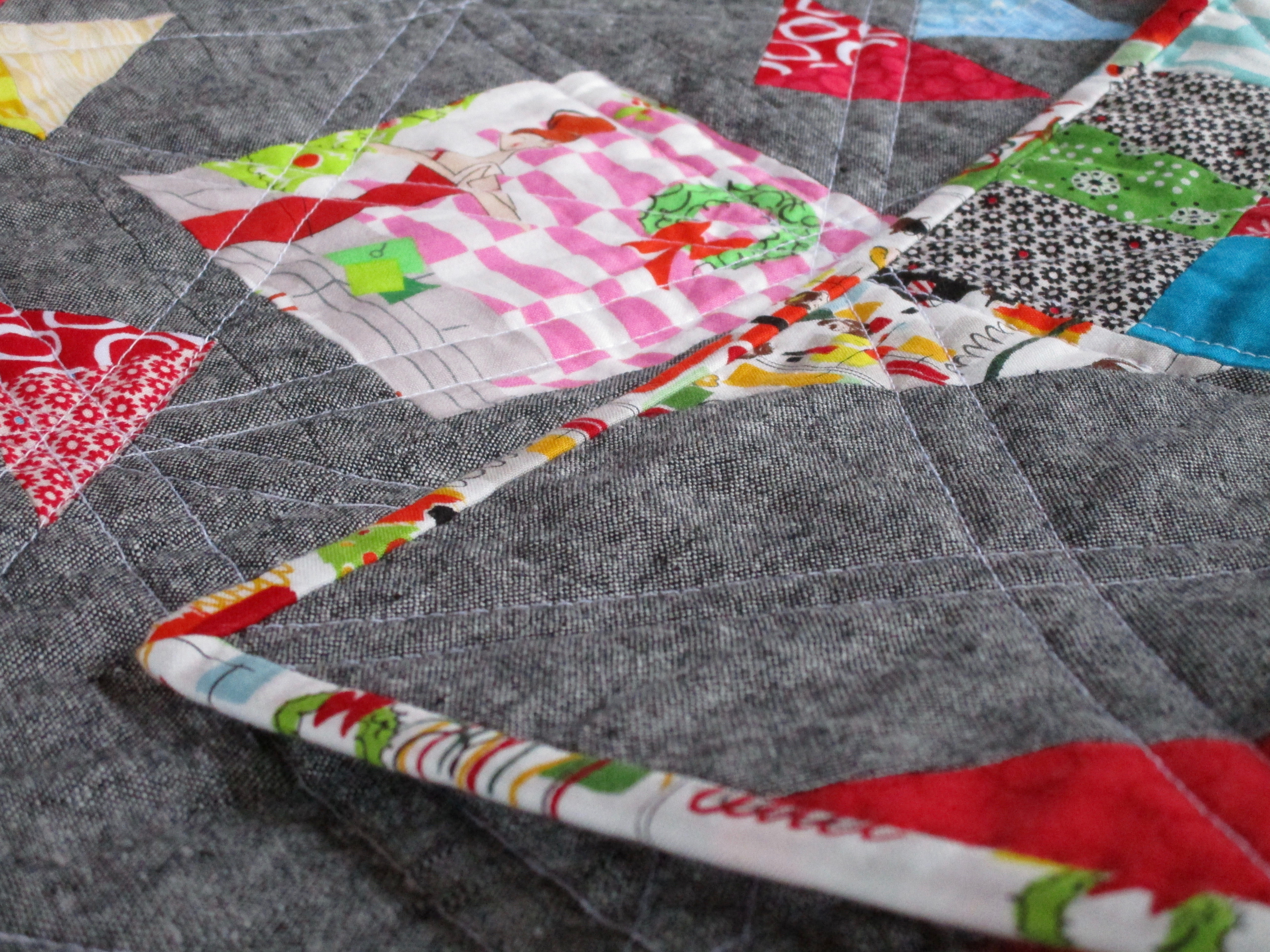 SEW KATIE DID:Split Personality Christmas Quilt side