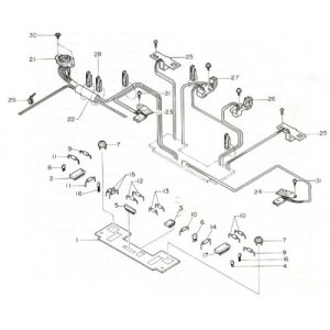 free, AG50, silverreed, diagram, parts list, accessories
