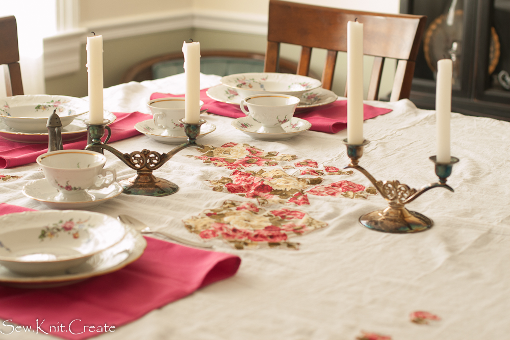 Cotton Flour Sack Tablecloth From Sew.Knit.Create
