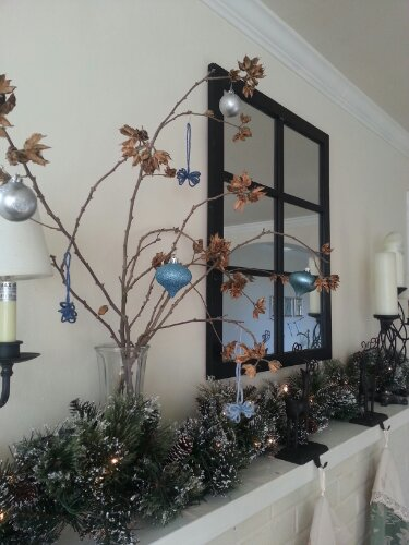 christmas mantel by Sew.Knit.Create