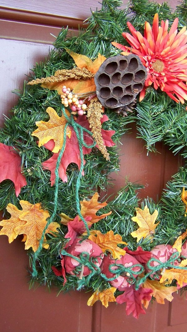 Fall wreath with pumpkin tutorial