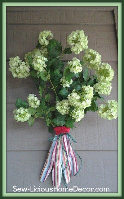 garden glove flower arrangement-patio