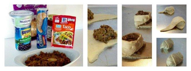 creamy taco puffs steps