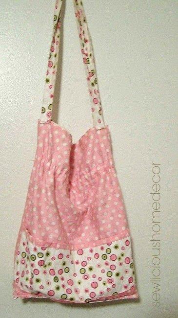 Pink reverse side hand bag