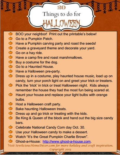 20 fun things to do for halloween