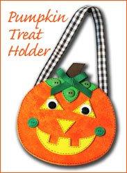 halloween pumpkin treat holder