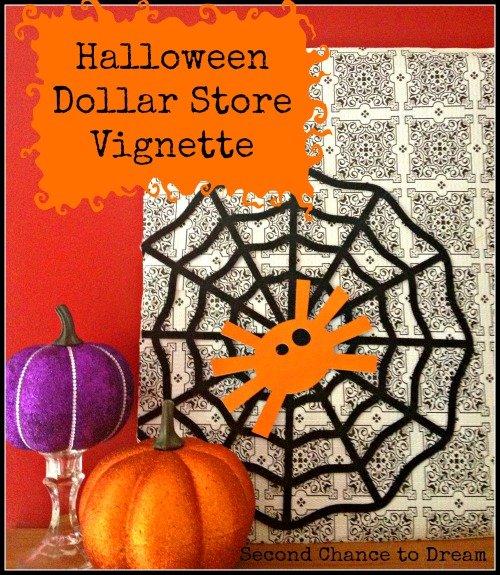 list Halloween Dollar Store Vignette