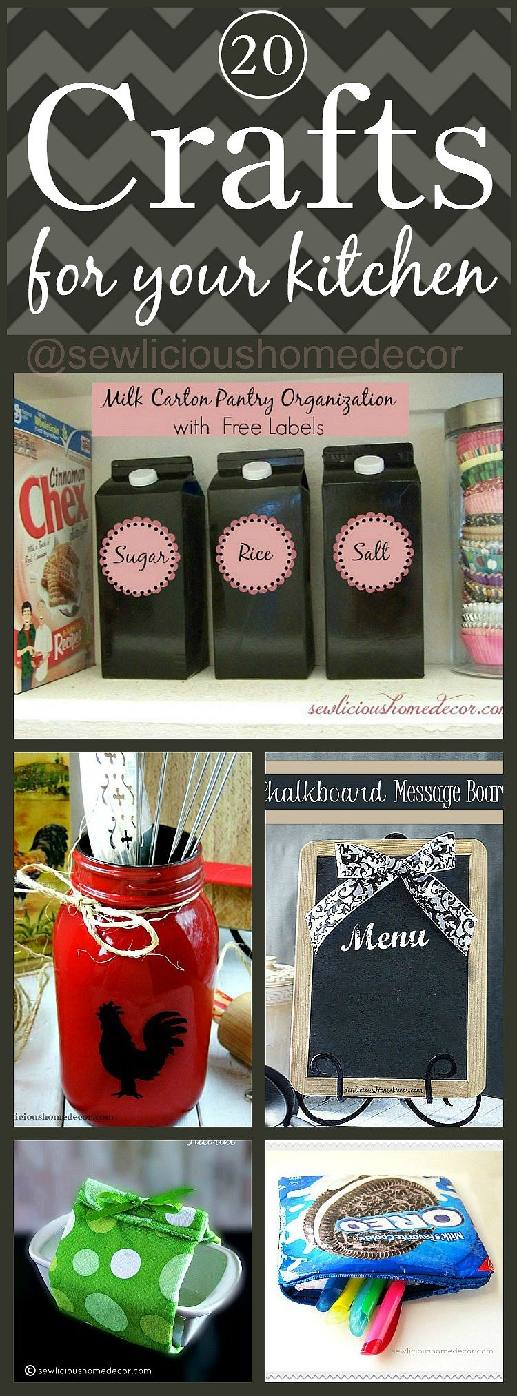 20 Best Craft Projects and Recycled DIYs for your kitchen sewlicioushomedecor.com