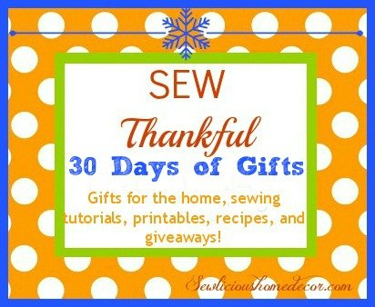 sew thankful 30 days of Thanksgiving gifts