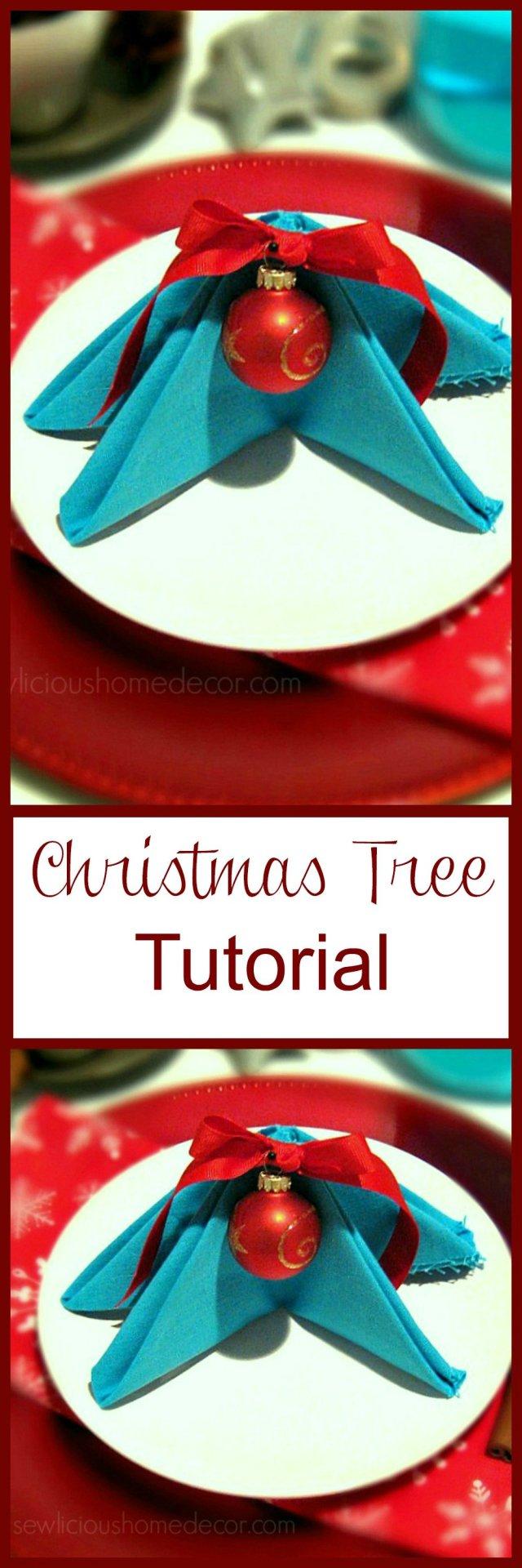 Christmas Tree Napkin Tutorial by sewlicioushomedecor.com