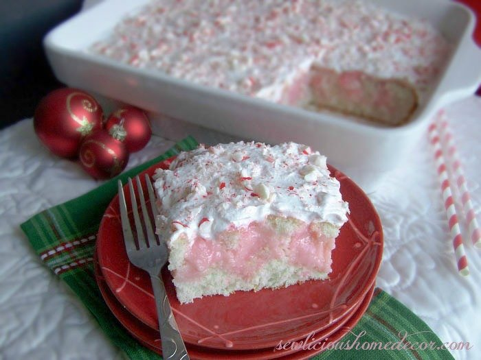 Peppermint Poke Cake Quick and Easy Recipe
