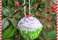 cupcake Christmas ornament tutorial