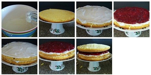lemon cranberry cake tutorial