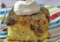 Chocolate Chip Pineapple Upside Down Cake-sewlicioushomedecor.com