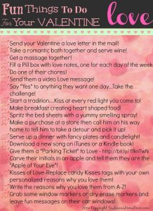 Fun things to do for with Valentine