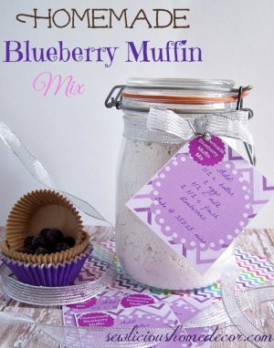 Homemade Blueberry Muffin Mix