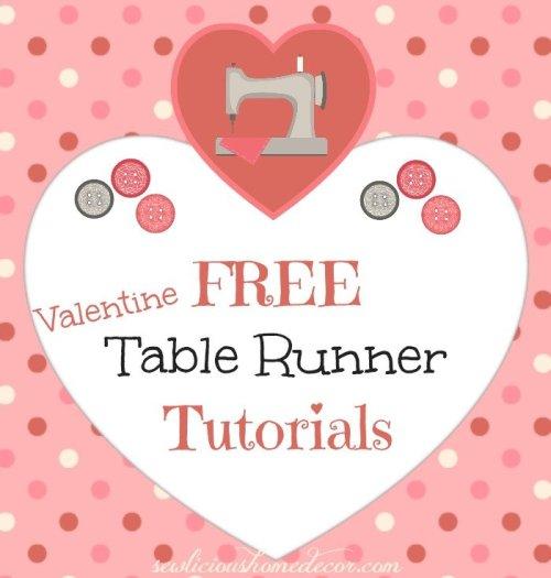Free Valentine Table Runner Tutorials