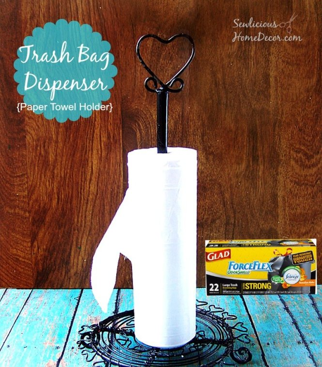 #Trash Bag Dispenser from sewlicioshomedecor.com