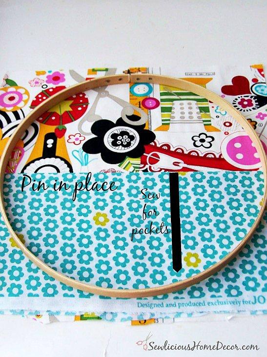 Embroidery Hoop Organzier Tutorial