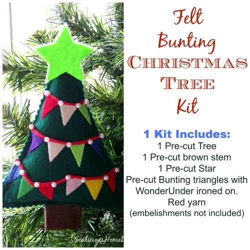 Bunting Christmas Tree Ornament Kit