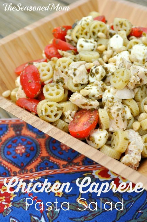 A Chicken-Caprese-Pasta-Salad