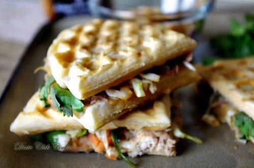 Asian waffle panini