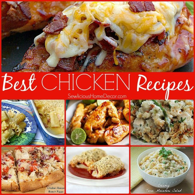 Delicious Chicken Dinner Recipes at sewlicioushomedecor.com