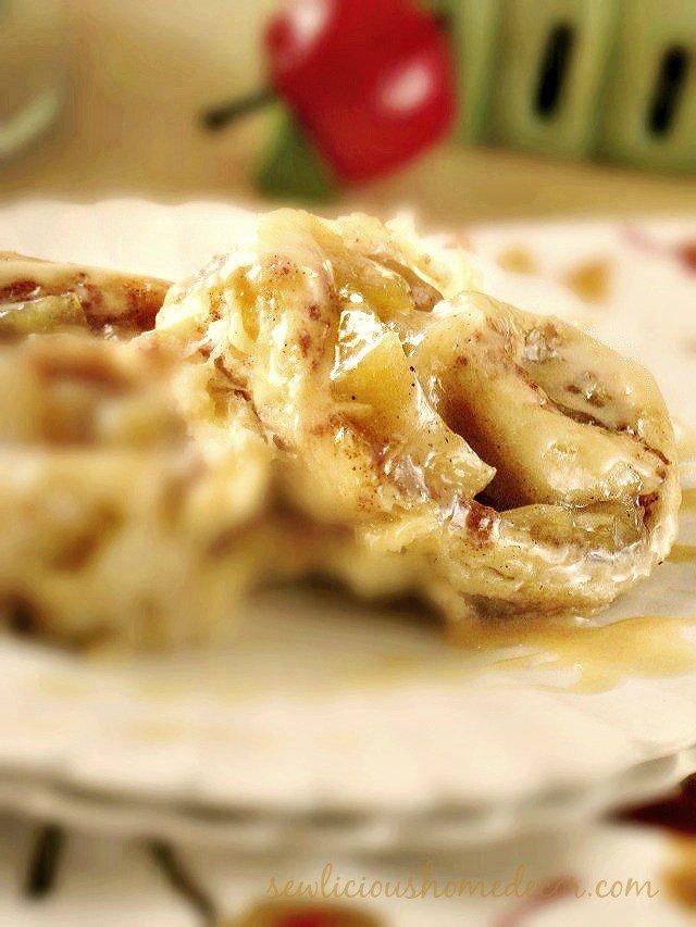 A Caramel Apple Cinnamon Rolls