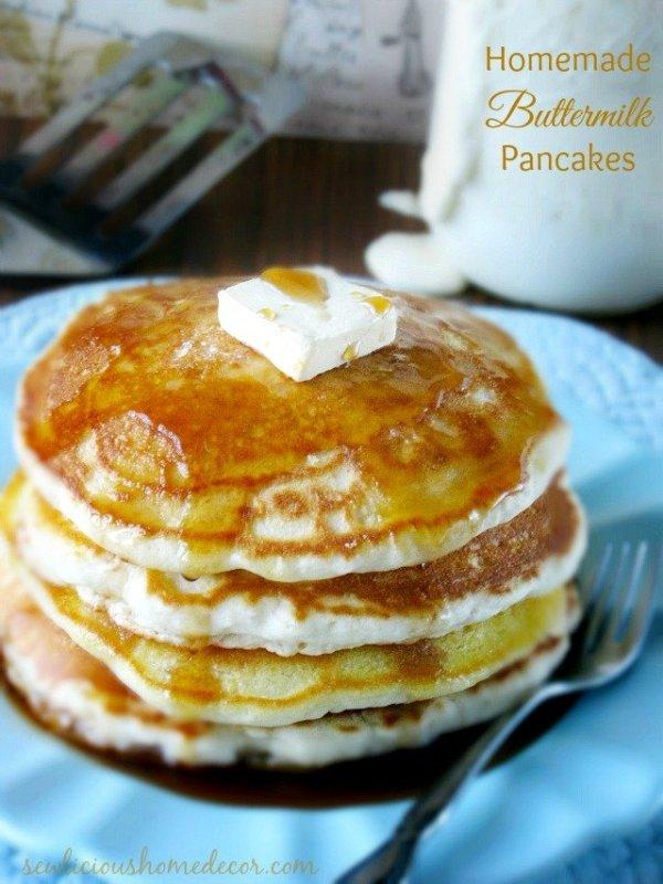 Homemade Buttermilk Pancakes at sewlicioushomedecor.com