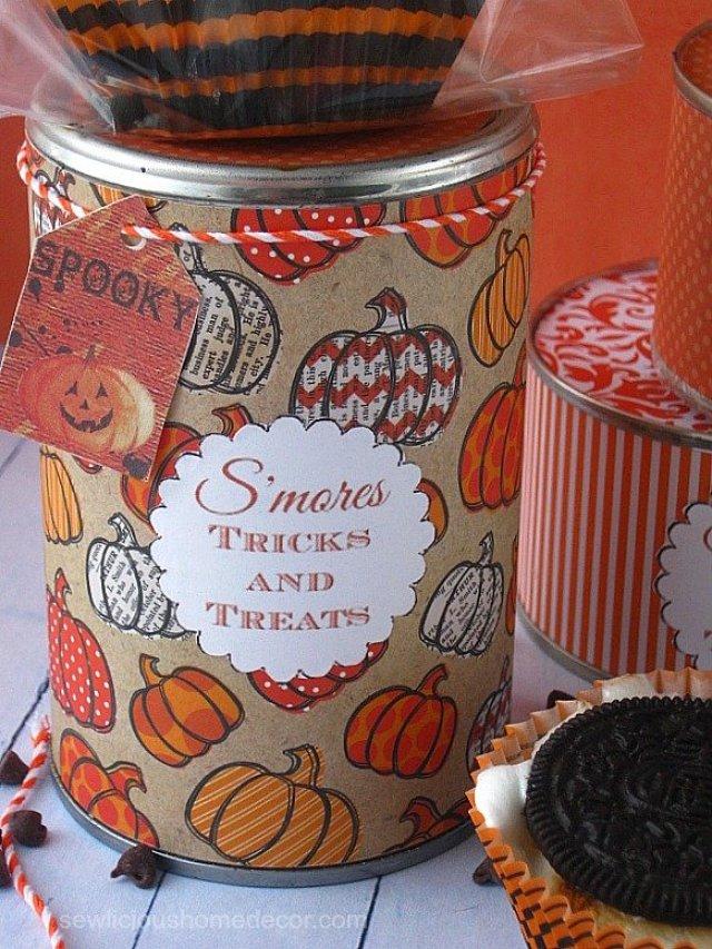 Halloween Oreo Smores in a can