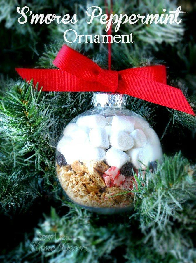 DIY Smores Peppermint Christmas Tree Ornament at sewlicioushomedecor