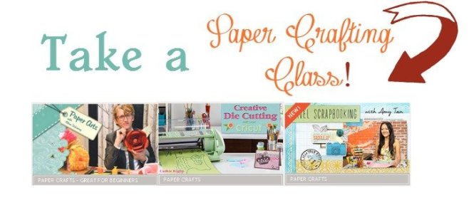 Take a paper crafting class at craftsy sewlicioushomedecor.com