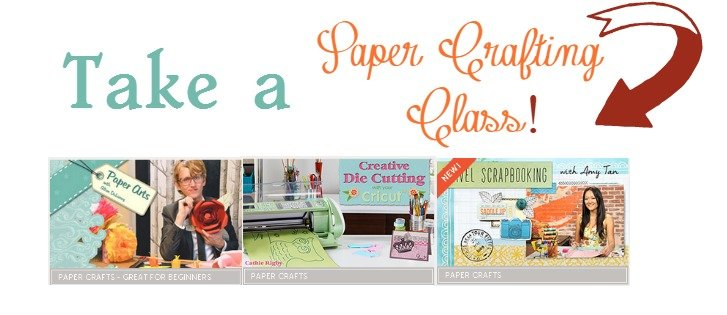 Take a paper crafting class at craftsy sewlicioushomedecor.com