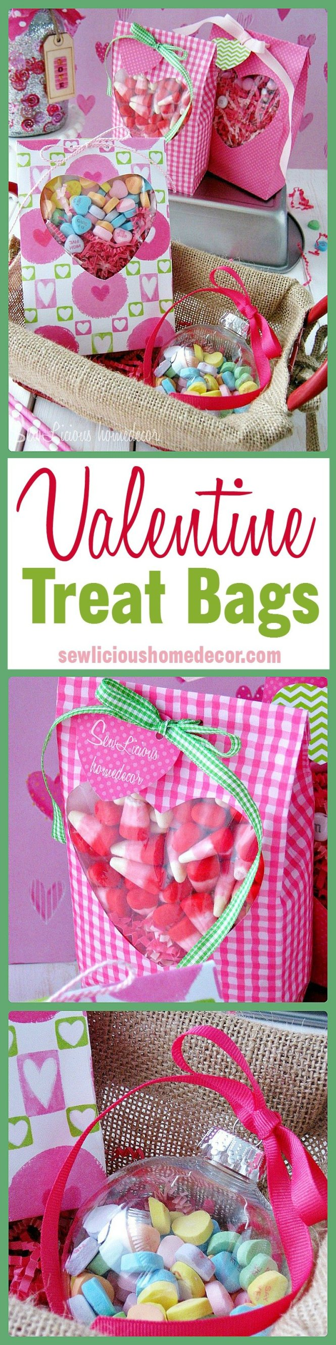 Valentine Treat Bags at sewlicioushomedecor.com