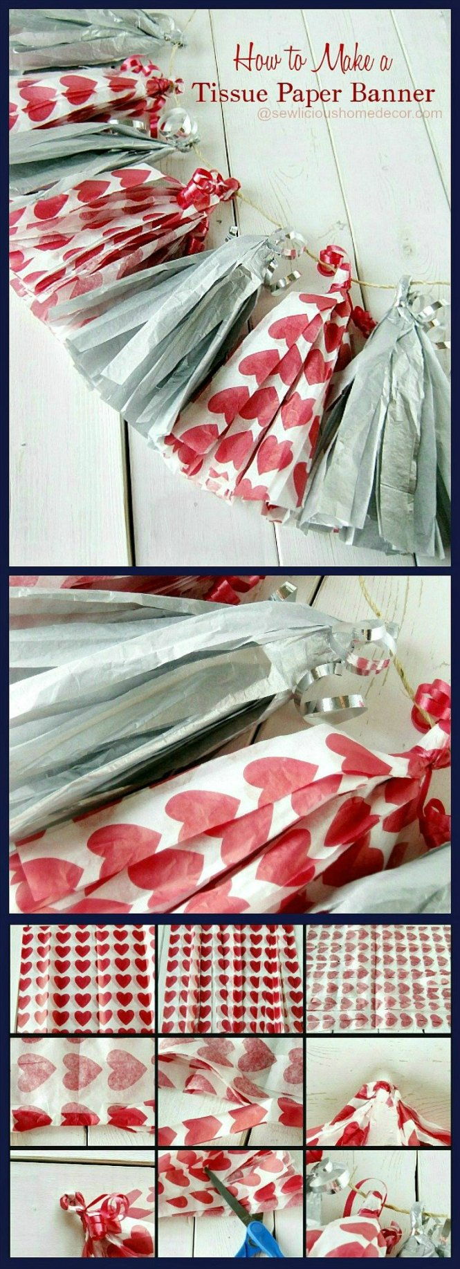 How To Make Tissue Paper Party Banners Tutorial sewlicioushomedecor.com
