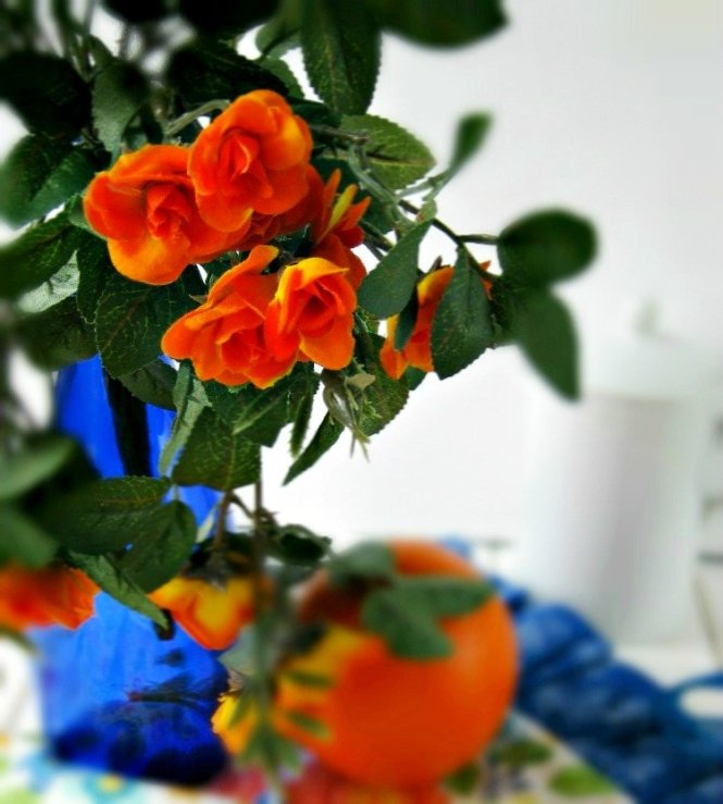 Orange flowers and pancakes sewlicioushomedecor.com