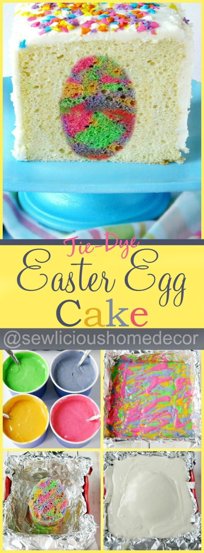 Easter Egg Cake Tie Dye at sewlicioushomedecor.com