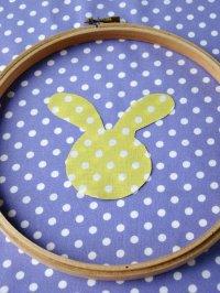 Bunny Embroidery Hoop Wall Art | Club Chica Circle - where ...