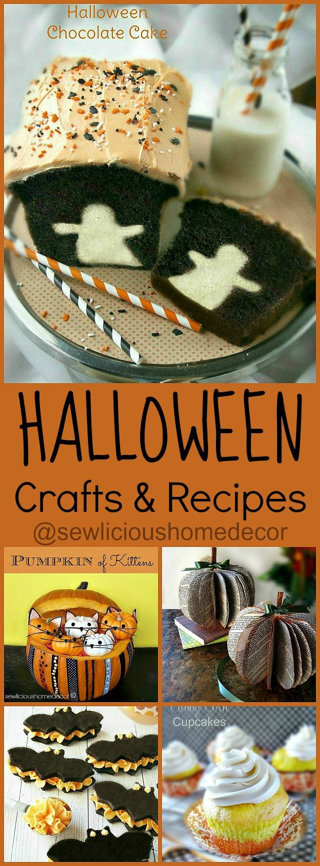 Halloween Crafts and Recipes by sewlicioushomedecor.com