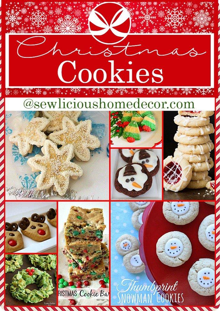 Over 25 Holiday Christmas Cookies Get more holiday ideas at sewlicioushomedecor.com
