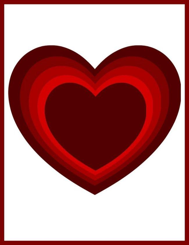 Ombre Heart Valentine Free Printables at sewlicioushomedecor.com