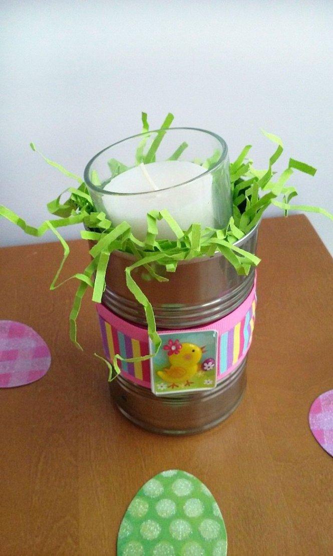 Easter Bunny Recycled Tin Cans sewlicioushomedecor.com