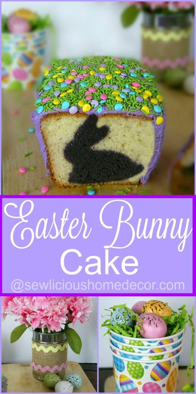 Festive Holiday Easter Bunny Cake sewlicioushomedecor.com