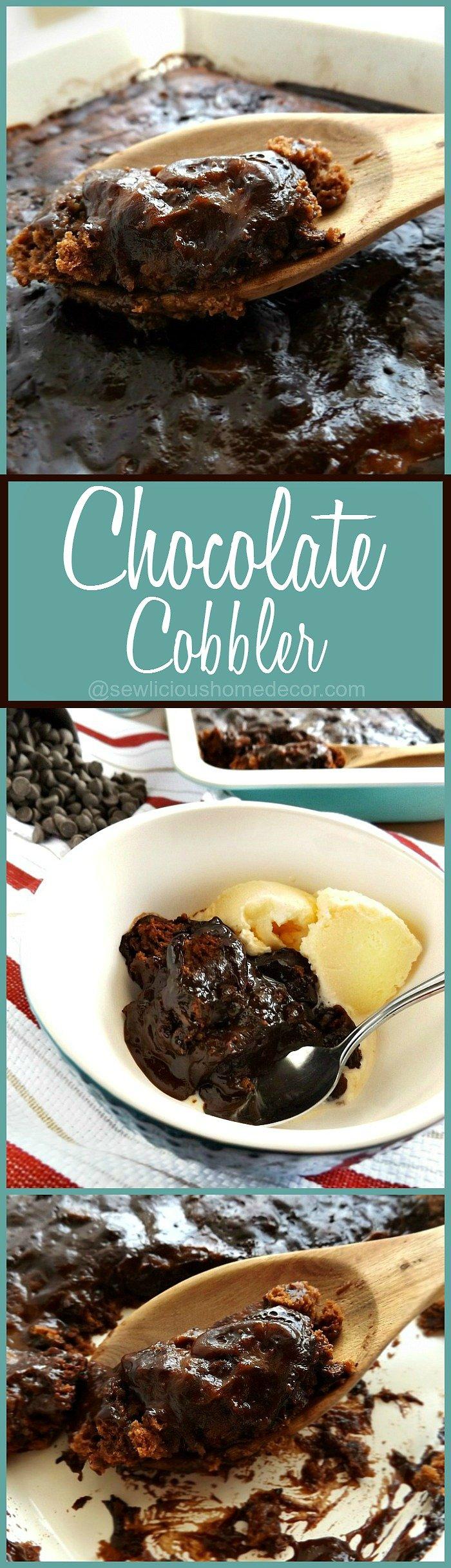 Chocolate Cobbler Pudding Cake at sewlicioushomedecor.com