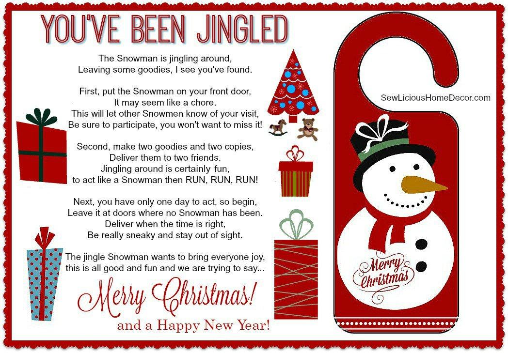 Youve Been Jingled Free Christmas Printable